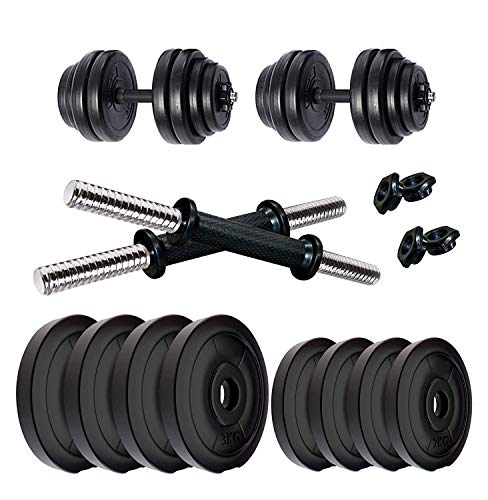 V22 8kg (2kgx4) Dumbbell Set, Weight Plates, Weight Plates for Home Gym, Gym Weights, Exercise Set, Gym Weights Set with 1 Pair PVC Dumbbell rods (8KG Combo)