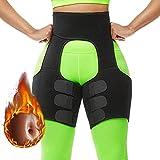 LJYTD Butt Lifting Neoprene Thigh Shaper Fashion Waist Shaper Basic Shaping Thigh Trimmer, Slimming Belt Body Shaper Fat Burner Workout for Women Workout Fitness (Black, M)