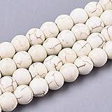 Fil de pierres précieuses, 8 mm, 6 mm, 4 mm, pierres turquoises, perles en...