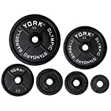 York Barbell York 2''Legacy Cast Iron Precision Milled Olympic Plate, 5 lb