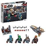 LEGO Star Wars, Coffret de bataille Mandalorien 4 avec 4 figurines, un speeder...