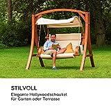 Gartenschaukel Hängesessel Hollywoodschaukel Sitzfläche praktisches Sonnendach - 3