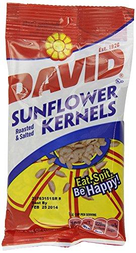 DAVID Roasted and Salted Original Sunflower Kernels, 3.75 oz, 12 Pack