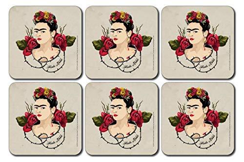 Frida Kahlo Thorns - Posavasos (6 unidades)