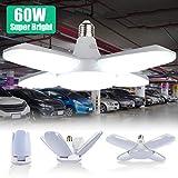 Éclairage de Garage à LED 60W, Lampe d'atelier Déformable à 4 Panneaux...