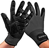 Pet Grooming Gloves - Pet Hair Remover for Cat and Dog - Premium Pet Gloves for Hair Removal,Brush for Shedding, Dogs,Cats Horses Removes Tangles and Dirt for Long Fur Coats Pet Gloves