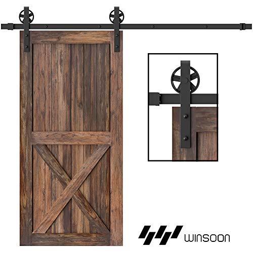 WINSOON 5-16FT Single Wood Sliding Barn...