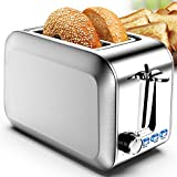 Toaster 2 Slice Stainless 2 Slice Toaster Best Rated Prime Wide Slot Toaster with Removable Crumb...