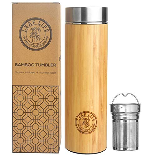 Original Bamboo Tumbler with Tea Infuser & Strainer by...