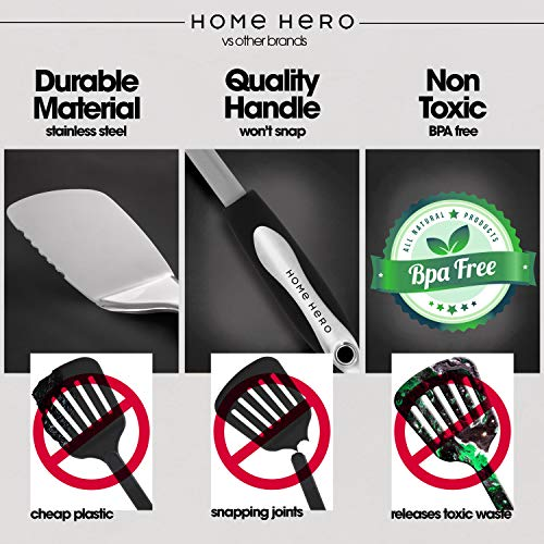 Product Image 3: Home Hero Stainless Steel Kitchen Cooking Utensils - 25 Piece Kitchen Utensil Set - <a href=