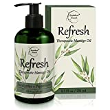 Refresh Massage Oil with Eucalyptus & Peppermint Essential Oils -...