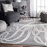 nuLOOM Thomas Paul Octopus Area Rug, 3' x 5', Grey