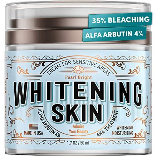 Whitening Cream for Sensitive Areas - Made in USA - Bleaching Cream for Whitening Skin - Dark Spot Remover for Intimate Parts with Alpha Arbutin - Underarm Skin Lightening - Fairness Cream