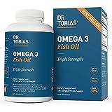 Dr. Tobias Omega 3 Fish Oil Triple Strength Supplement, 2000 mg, 180 Softgels