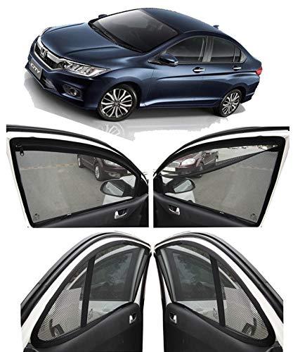 AUTOFACT Magnetic Window Sun Shades for Honda City Idtec (2014-2018) -Set of 4 - with Zipper