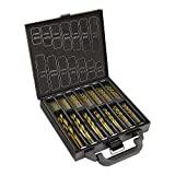 99 Pieces Titanium Twist Drill Bit Set by Volterin- HSS Metric Drill Bits for Metal, Steel, Wood, Plastic, Copper, Aluminum Alloy, Stainless Steel with Box (Conventional 99PC)