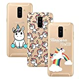 Young & Ming Coque Samsung Galaxy A6 Plus,3 Pack Transparent Housse TPU...