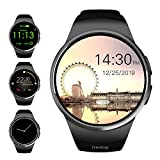 Evershop Smart Watch Phone with TF SIM Card Slot for Men Women, 1.5 inches IPS Round Touch Screen Fitness Tracker Watch with Heart Rate Monitor,Sleep Monitor, Pedometer for Android iOS