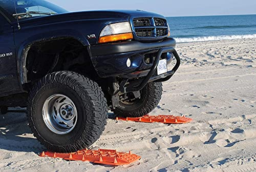 Maxsa Innovations 20333 Escaper Buddy Traction Mats for Off-Road Mud, Sand, & Snow Vehicle Extraction (Set of 2), Orange, standard