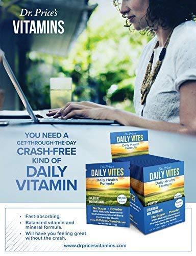 Daily Vites Multi-Vitamin Drink Mix + Minerals, B Complex, Biotin, Vitamin C & D, Calcium, Magnesium, B12 | New 30 Powder Packets Men and Woman's | Dr. Price's Vitamins | No Sugar Non-GMO Gluten Free 6