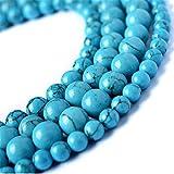 2lots de perles rondes naturelles Juliewang - Turquoise - Idéales pour...