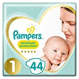 Pampers Premium Protection couches New Baby Taille 1 (2-5 kg), Lot de 2 (2...
