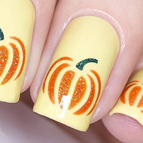 Whats Up Nails - Pumpkin Vinyl Stencils for Halloween Nail Art Design (1 Sheet, 20 Stencils)