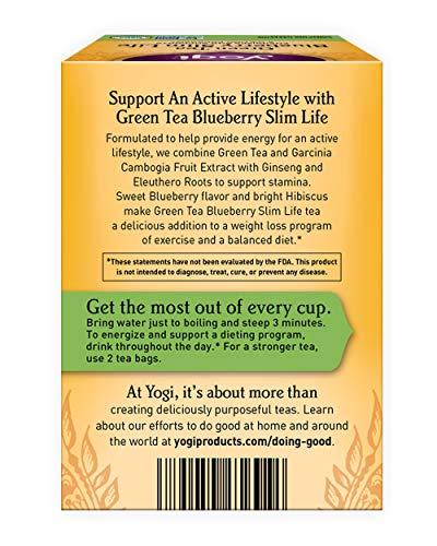 Yogi Tea, Green Tea Blueberry Slim Life, 16 Count 3