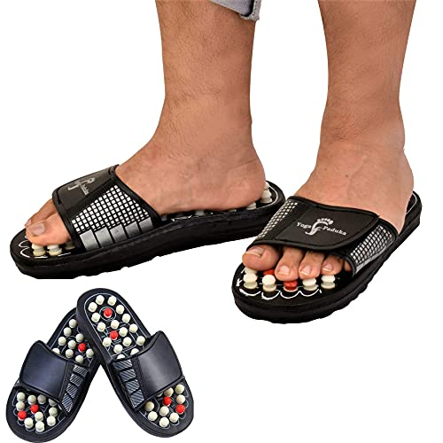 Dazibao Yoga Acupressure Paduka Slippers Foot Care Magnetic Therapy Massager Sandal And Full Body Relaxer With Pressure Points For Leg Pain Relief For Men And Women ( Size 5 , 6 , 7 , 8 , 9 , 10 )