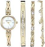 Anne Klein Women's Swarovski Crystal Accented Watch and Bracelet Set, AK/3586