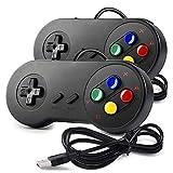 miadore 2X Nueva Retro USB para Súper SNES Controlador Mando de Juegos Controller para PC/Mac