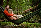 Grand Trunk Double Parachute Printed Nylon Hammock: Portable with Carabiners and Hanging Kit - Perfect for Outdoor Adventures, Backpacking, and Festivals, Olive Green/Khaki