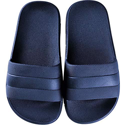 GURGER Zapatos de Playa Mujer Hombre Piscina Ducha Baño Chanclas Sandalias de Punta Descubierta Pantuflas Casa Verano Azul 40 41