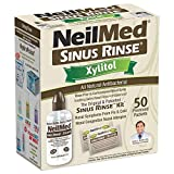 NeilMed Sinus Rinse Kit with Xylitol, 50 Count (Pack of 1)