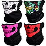 CIKIShield Couples Seamless Skull Face Tube Mask Black (4pcs-Color Set)