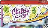 Feutre à dessin - STABILO Pen 68 - Boîte Métal x 50 Feutres - Décor CHILLIN'...