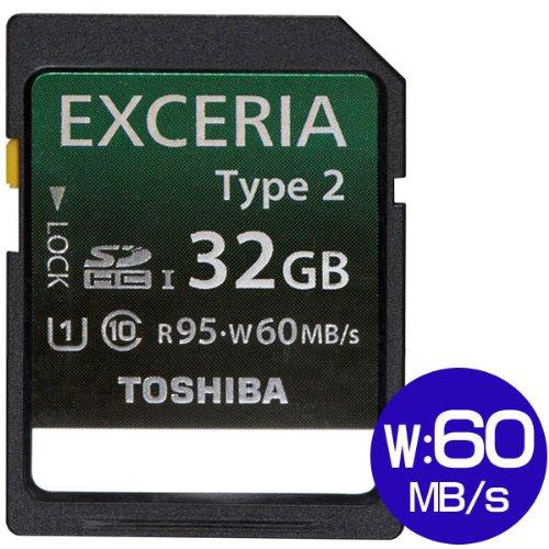 東芝 SDHCカード 32GB TOSHIBA EXCERIA Type2 UHS-I 95MB/S 並行輸入 海外パッケージ品