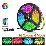 BACKTURE Rubans à LED, 2M 60 LED 5050 RGB Lumière Décorative Multicolore...