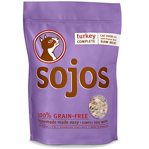 Sojos Complete Turkey Recipe Dehydrated Cat Food, 1 lb