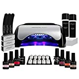Kit Manucure Semi-Permanente I 6 Vernis à Ongles et Lampe UV/LED 48W I...