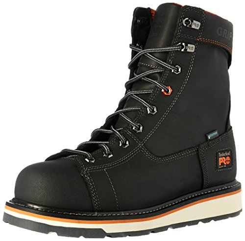 Timberland PRO Men's Gridworks 8' Alloy Safety Toe Waterproof Industrial and Construction Shoe, Black Full Grain Leather, 9.5 W US