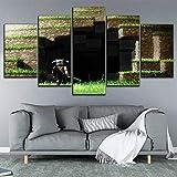 Yyjyxd Impression Peinture Peinture Sur Toile Affiche 5 Pcs Jeu Minecraft...