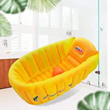 Inflatable Baby Bathtub, Anti- Slip Toddler Tub Portable Newborn Bathtub with Foldable..