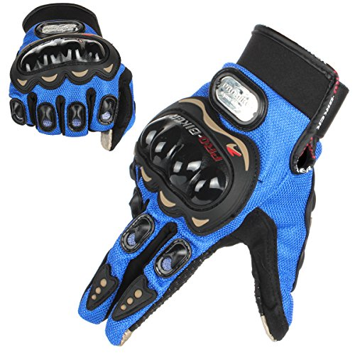 GES Men Outdoor Motorcycle Guanti impermeabili Moto Full Finger Touch Screen Racing Moto Cross...