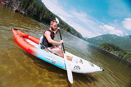 guy rowing oars on a kayak