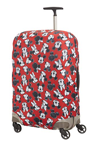 Samsonite Global Travel Accessories Disney - Coperture in Lycra per Valigia, M, Rosso (Mickey/Minnie...
