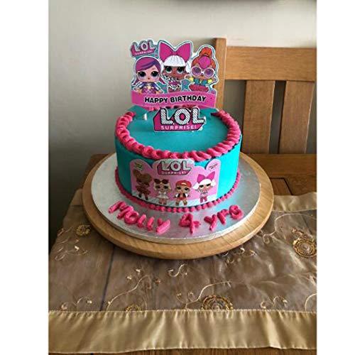 Image 1 - LOL joyeux anniversaire Cake Topper Cupcake Picks Cartoon Gâteau Décoration Enfants Filles Fête D'anniversaire Fournitures 5 pcs