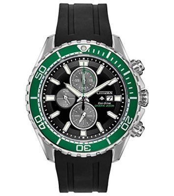 Citizen Men's Promaster Stainless Steel Quartz Sport Watch with Rubber Strap, Black, 22 (Model: CA0715-03E)