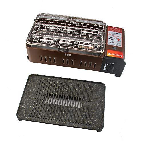Shov Barbecue a Gas da Campeggio, Portatile, con griglia, griglia 2200 Watt
