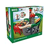 BRIO World - 33887 Lift & Load Warehouse Set   32 Piece Train Toy with Accessories and Wooden Tracks for Kids Ages 3 and Up